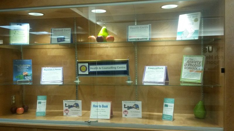 Library Display - Student Health and Counselling